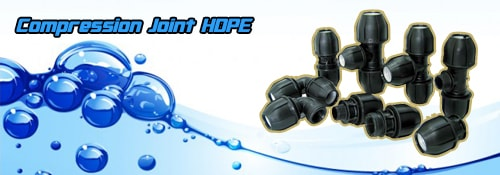 Fitting HDPE compression joint
